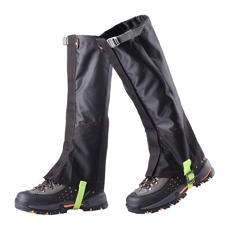1 Pair Waterproof Leg Gaiters Hiking Legging Outdoor Snow Climbing Walking Cover