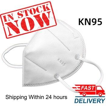 100 Pcs KN95 Facial PM2.5 Gezicht Maskers Stofdicht 95% Filtratie Veiligheid Gezondheid Anti Griep Cover Mond Stofmasker Snelle Verzending