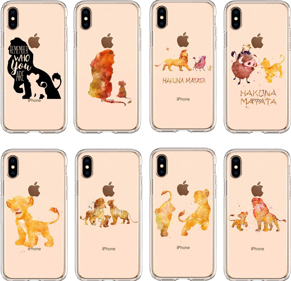 The <font><b>Lion</b></font> <font><b>King</b></font> Simba Cute cartoon Soft TPU Silicone Back Cover Phone <font><b>Case</b></font> For <font><b>iPhone</b></font> XS MAX <font><b>6</b></font> 6S 7 8 Plus X XR transparent <font><b>Case</b></font> image