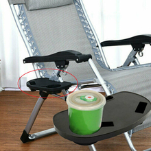 Folding Beach Chair Clip On Side Table Cup Drink Holder ONLY TRAY For Lounge Camping Sports Event Outdoor Activity
