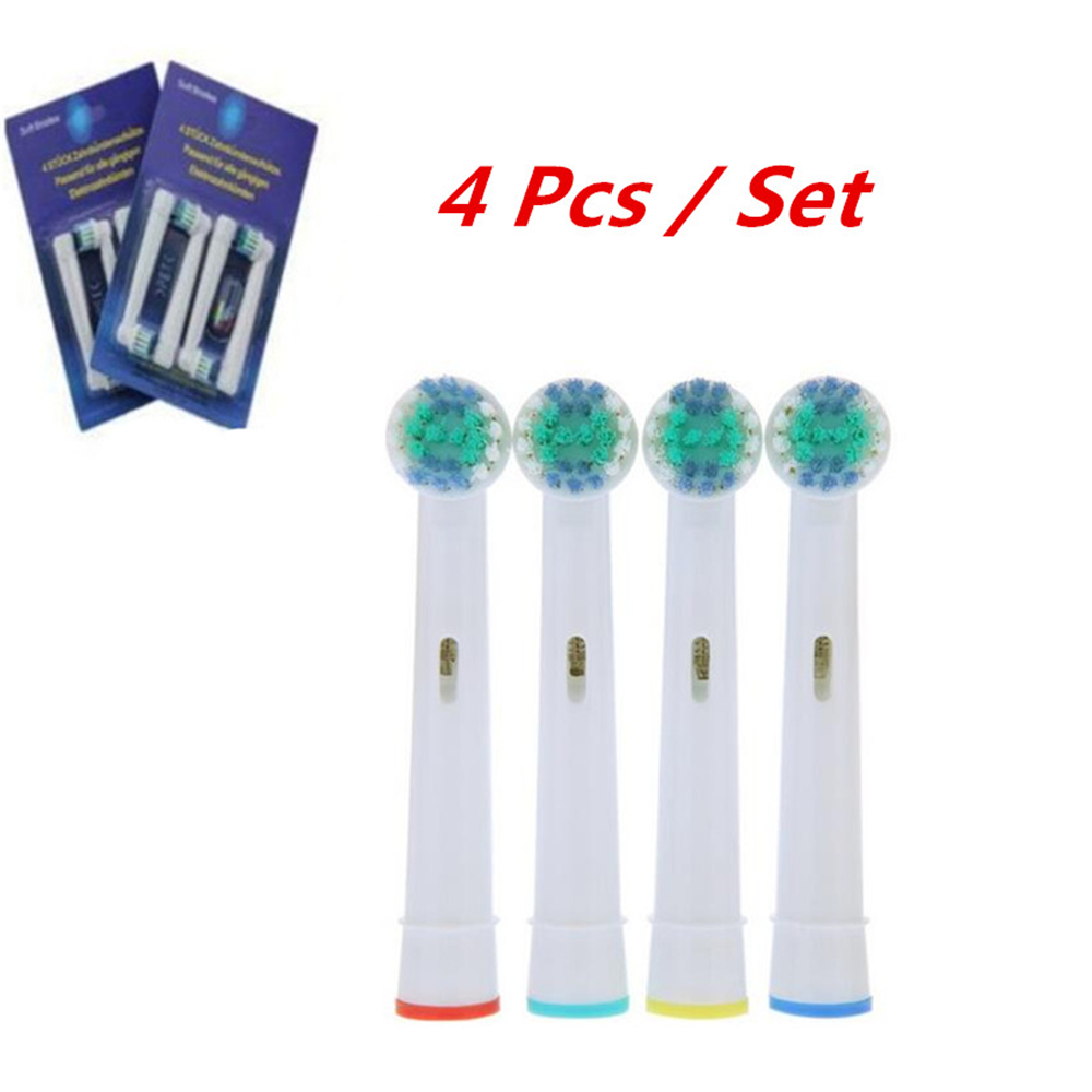4pcs/Set Toothbrush Heads SB-17A Replacement Soft-bristled POM 4 Colors For Oral Hygiene B 3D