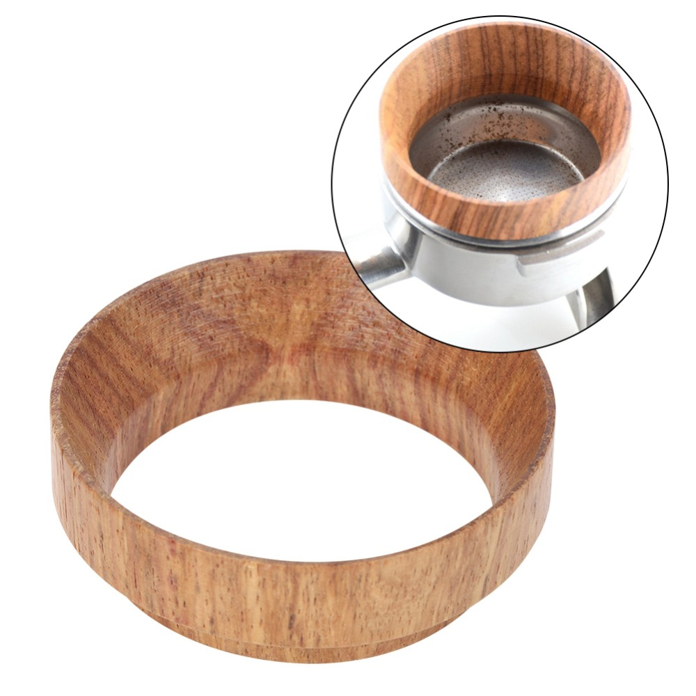 Wood Dosing Ring For Coffee Brewing Bowl Coffee Powder for the Espresso Replacement Tool For 58mm Profilter Coffee Tamper