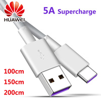 Huawei USB 5A Typ C Kabel P30 P20 Pro lite Mate20 10 Pro P10 Plus lite USB 3,1 Typ-C Original Aufzurüsten Super Ladegerät Kabel