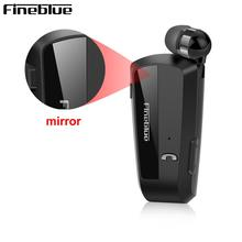 New Fineblue F990 Wireless Bluetooth Earphones With MIC Neck Clip On Telescopic Type Business Sport Stereo In ear For Iphone12