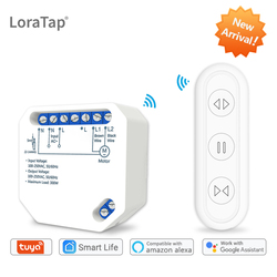 Tuya Smart Life WiFi Curtain Blind Switch Module with Remote for Roller Shutter Electric Motor Google Home Aelxa Echo Smart Home