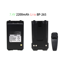 2200mAh BP-265 Battery Replacement 7.4V Li-ion Battery Extended for ICOM IC-T70A / IC-T70E FM Transceiver Walkie Talkie 10x bp 265 bp 265li battery belt clip for icom ic f4002 ic f3003 ic f4003 ic t70a ic t70e ic v80 ic v80e