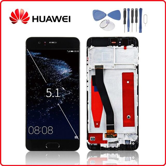 HUAWEI Originale P10 Display LCD di Tocco Digitale Dello Schermo Per Huawei P10 Display con Telaio di Ricambio VTR L09 VTR L10 VTR L29