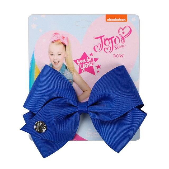 35 colors 5inch Bows Hair Clip headwear Hair Bow for baby Kids girls Handmade Ribbon bowknot Fashion Hair Accessories 1