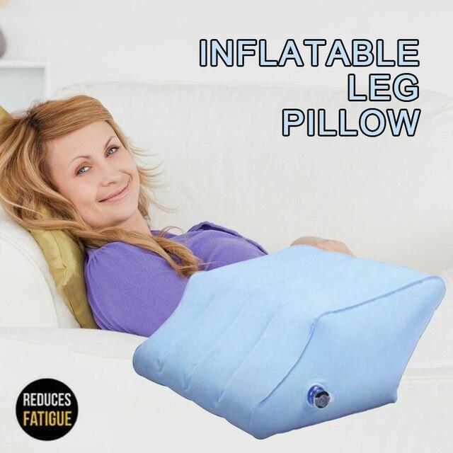 Oreiller gonflable pour jambes en losange | PVC, Portable, gonflable, rehaussement du corps, des pieds et du genou, pour soulager le gonflement du genou, avec pompe, TSLM1