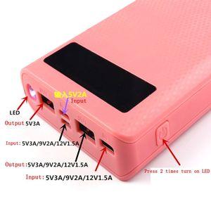 Image 4 - Duplo usb qc 3.0 8x18650 bateria diy power bank box carregador para iphone xiaomi celular tablet