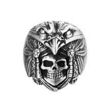 Оптовая продажа кольцо 25 мм с индийским скелетом и черепом