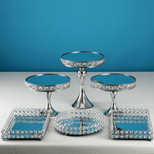 Table-Decorating Crystal-Cake-Stand-Sets Cupcake Candy-Bar Sweet Table No 3-6pcs Sliver