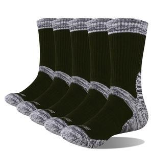 Image 3 - YUEDGE מותג גברים 5 זוגות שחור באיכות גבוהה חורף חם עבה כותנה כרית נוחות לנשימה מזדמן ספורט שמלת צוות