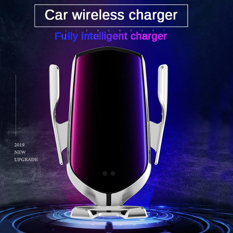 Wireless Car Charger Automatic Clamping Holder Qi Fast Charging Infrared Sensor Phone Holder For IPhone Samsung Huawei Xiaomi