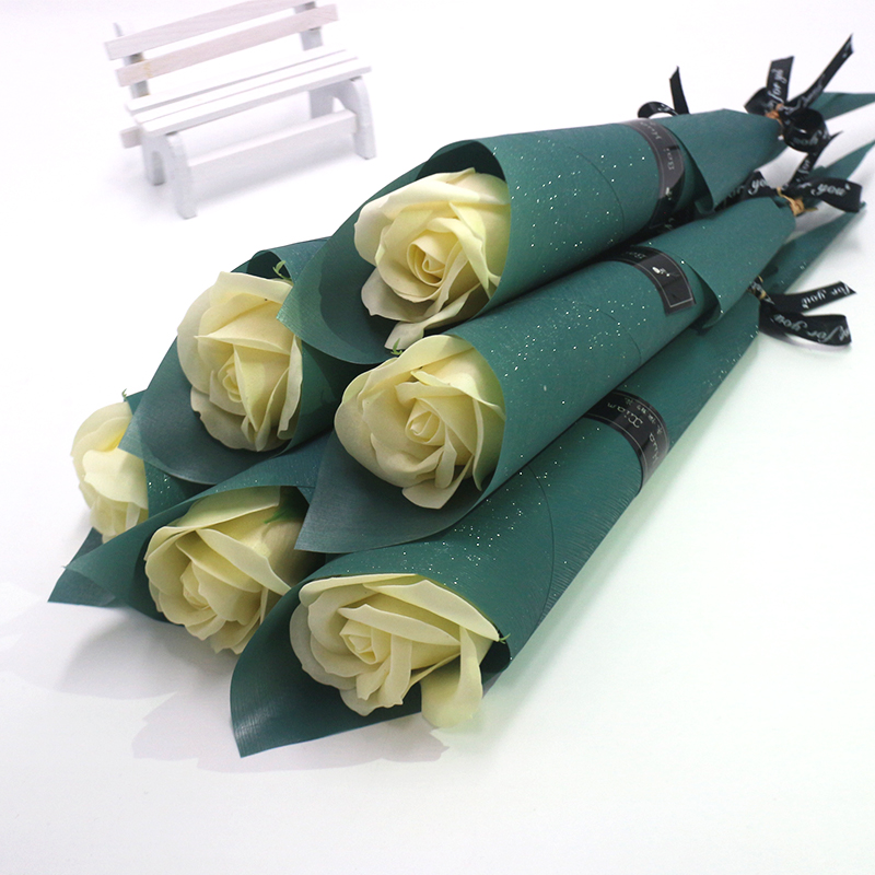 soap flowers for Mother's day gift artificial rose flowers