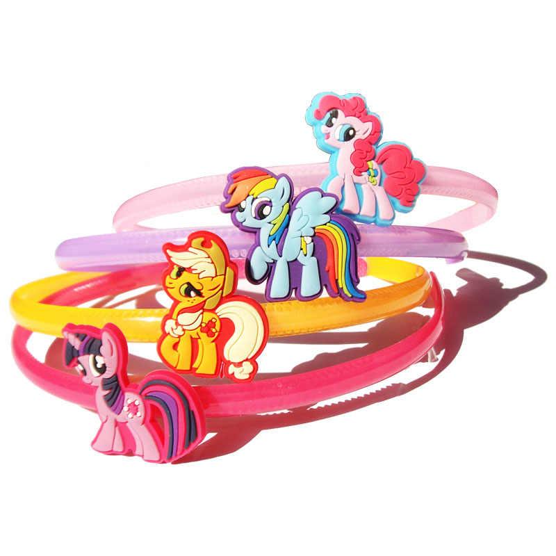 4 pz/lotto My Little Horse Del Bambino Delle Ragazze Della Fascia Bambini Copricapi Dei Capelli Dei Bambini Accessori Bambini Barrettes regali Del Partito
