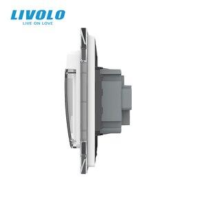 Image 4 - Livolo Israel Standard Steckdose, Kristall Glas Panel, 16A stecker mit Wasserdichte Abdeckung, 3pins stecker