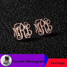 Personalized Monogram Name Earrings For Women Jewelry Custom Initials Stud Earring Stainless Steel Accesorios Mujer Pendientes