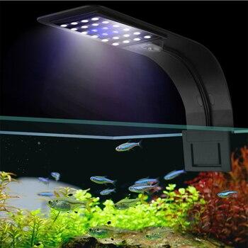 Супер яркий светодиодный светильник для аквариума s светодиодный светильник для выращивания растений 5 Вт/10 Вт/15 Вт водные лампы для пресной воды водонепроницаемый светильник для аквариума