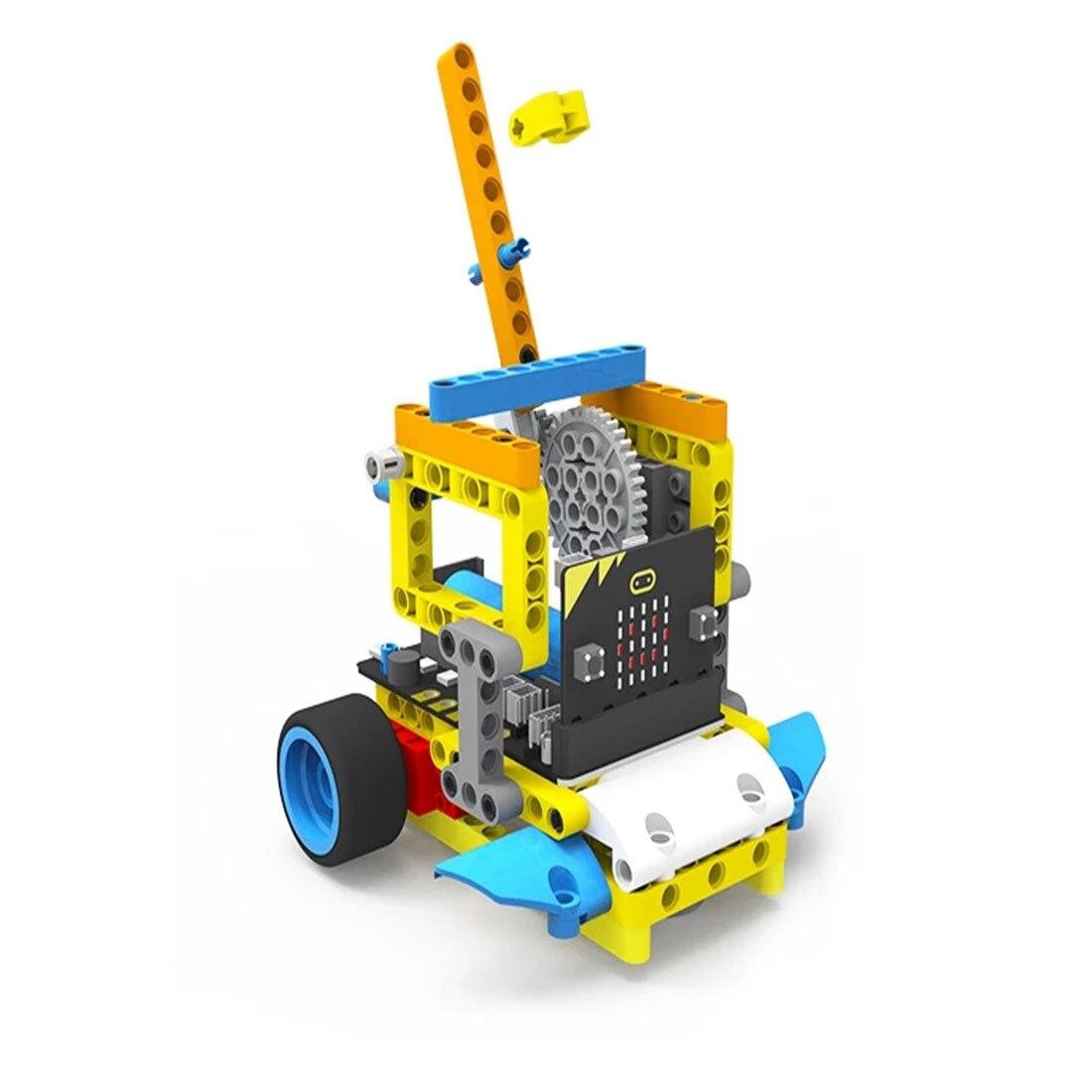 Programm Intelligente Roboter Baustein Auto Kit Verschiedene Formen Dampf Programmierung Bildung Auto Für Micro: Bit Programmierbare Spielzeug - 2