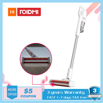цена на XIAOMI ROIDMI F8 Portable Vacuum Cleaner for Home Carpet Car Dust Collector cyclone Suction Handheld Vacuum Cleaner LED display