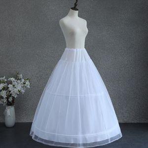 Image 2 - Women White Wedding Petticoat 2 Hoop Double Layer Bridal Crinolines with Tulle Netting Underskirt Half Slips for Ball Gown Dress