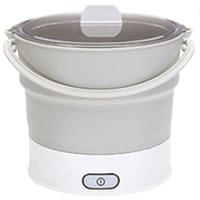 折りたたみ電気フライパンケトル加熱された食品容器加熱された弁当箱炊飯器ポータブル鍋調理茶米プラグ|電気ケトル|家電製品 -