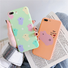 Candy bear case for coque iphone 8 7 xr x Korean bears jelly silicone soft fundas xs max 6 6s plus phone funda