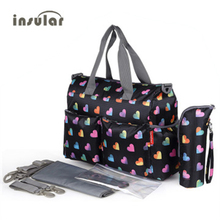 Insular Brand Baby Nappy Bags Diaper Bag Mother Shoulder Bag Fashion Maternity Mummy Handbag Waterproof Baby Travel Stroller Bag new multifunctional striped big baby nappy bags stylish mummy handbag shoulder messenger maternity mother bags baby stroller bag