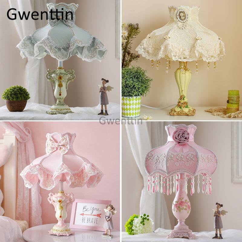 princesa moderna candeeiros de mesa led suporte luminarias para o quarto da menina cabeceira lampada mesa