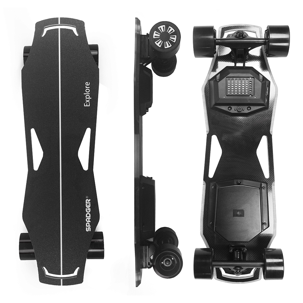 300W Dual Motor Electric Skateboard Electric Longboard 23MPH Top Speed With Light