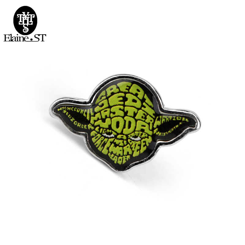 Maestro Yoda broche Star Wars Pins Alliance Darth Vader Stormtrooper Falcon broche máscara vengadores hombres abrigo joyería regalo