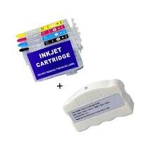 Europa 502xl 603xl chip resetter e cartucho de tinta sem chip para epson XP 5100 XP 5105 xp 4100 WF 2860 WF 2865 WF 2850|Peças de impressora|Computador e Escritório -