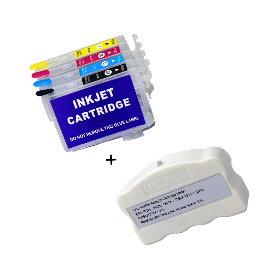 Europe 502XL T502 Chip Resetter and <font><b>ink</b></font> cartridge without chip For <font><b>Epson</b></font> XP-5100 XP-5105 WorkForce WF-2860 WF-2865 XP5100 image