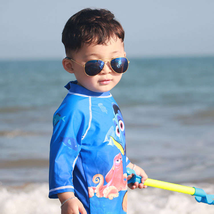 CHILDREN'S Swimsuit Baby Bathing Suit One-piece Hot Springs Warm Sun-resistant Quick-Dry Boy BOY'S Seaside Surfing Swimming Suit