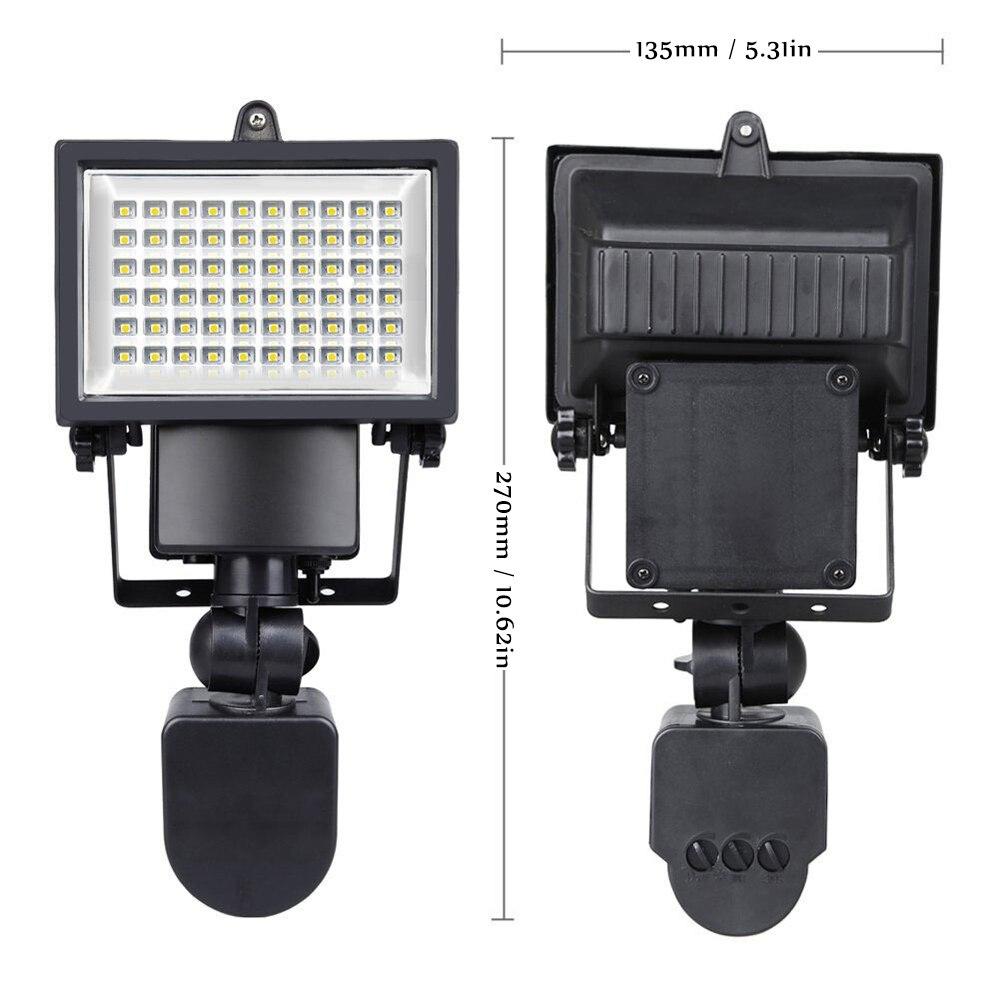 pir segurança luz holofote luz rua paisagem lâmpadas