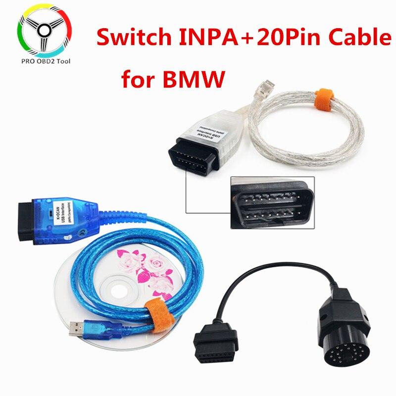 Диагностический кабель INPA K DCAN FT232RL, 20-контактный разъем, USB-интерфейс, для BMW, ИНПА, диагностический сканер OBD2