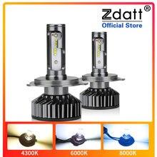 Zdatt 80W 16000LM Auto Haedlight H4 H7 H1 Led H8 H9 H11 4300K 6000K 8000K Canbus auto Mistlamp 12V Led Lamp