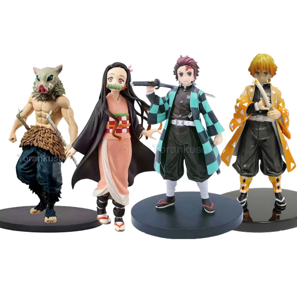 Demon Toys Action Figure Kamado Nezuko Kamado Tanjirou Anime Gift Agatsuma Zenitsu Demon Slayer Model Doll Figurines Toys Demon