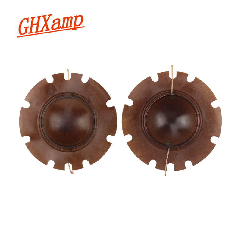 Ghxamp 51.5mm Tweeter Voice Coil 100W Broadcast Horn Tweeter Sound Film Convex Wide Side 2PCS