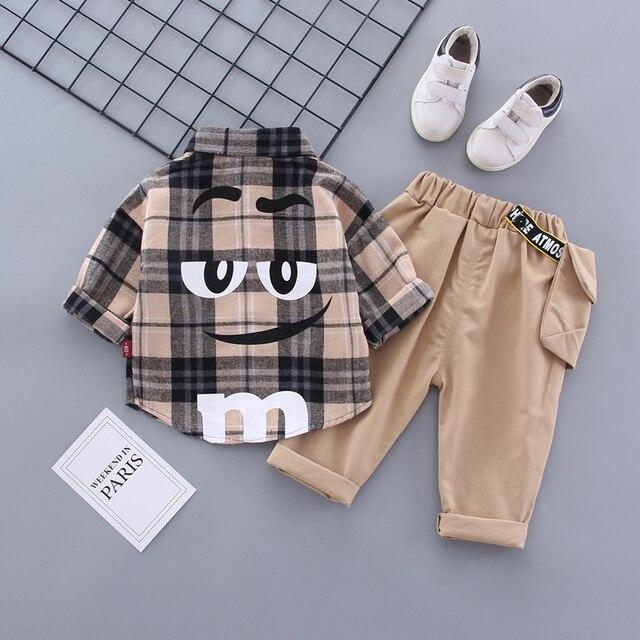 Boy Plaid Khaki Suit 5