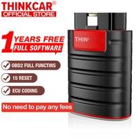 ThinkDiag جميع ماركات السيارات جميع إعادة تعيين الخدمة 1 سنة مجانية 2021 OBD2 أداة تشخيص اختبار نشط رمز وحدة التحكم الإلكترونية تجاوز جديد Thinkdiag