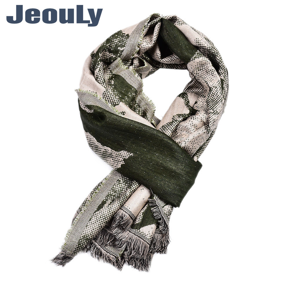 New Style Snake's Skin Flower Cotton Linen MORI Series Literature And Art-Style Yarn Dyed Silk Scarves Z Home Men-Autumn And Win