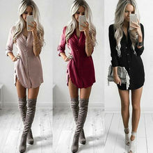 Womens Fashion Summer Short Sleeve Long Blouses Casual Loose Solid Color Plus Size Beach Wear Cover-up Linen Blouse