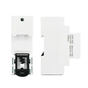 Image 5 - 63A 80A 110V 230V Din rail adjustable over under voltage protective device protector current limit protection Voltmeter Kwh