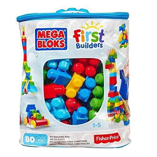 Living Word Mega Large Bag Building Blocks 80 Pcs Plastic Inserted Building Blocks Bag Pink Dch62 Primary Color Dch63
