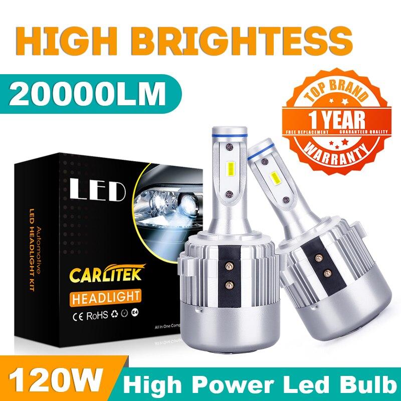 Carlitek 2x Canbus KEIN Fehler H7 Led Scheinwerfer Abblendlicht für VW Golf 6 Golf 7 T-ROC Passat tiguan Touran CSP Chips 120W 20000lm XQ