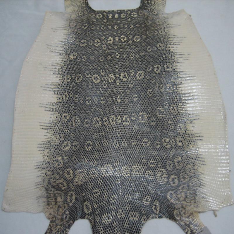 Piel de lagartija Artesanal de cuero genuino con color original