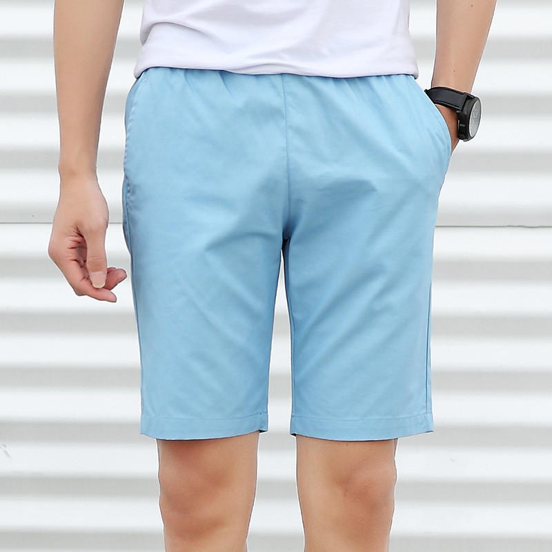 2019 Summer Shorts Men's 5 Shorts MEN'S Middle Pants Loose-Fit Beach Shorts Large Trunks