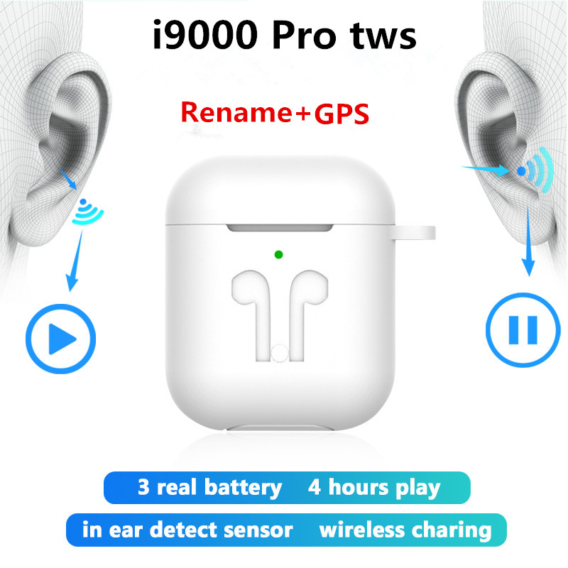 Original i9000 Pro <font><b>TWS</b></font> Bluetooth earphone 1:1 Air 2 Wireless Headphones Rename GPS <font><b>Super</b></font> bass Earbuds pk <font><b>i30</b></font> i200 i500 i9000 <font><b>tws</b></font> image